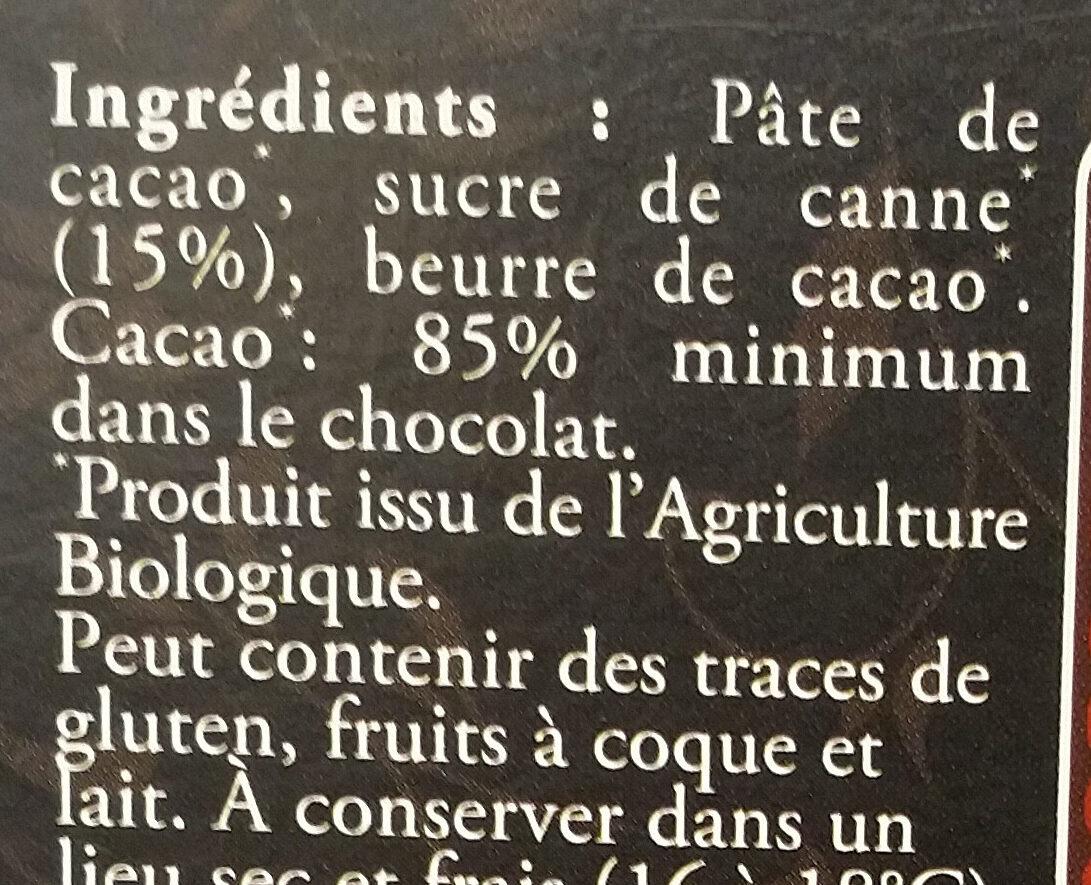 Chocolat noir intense 85% - Ingredienti - fr