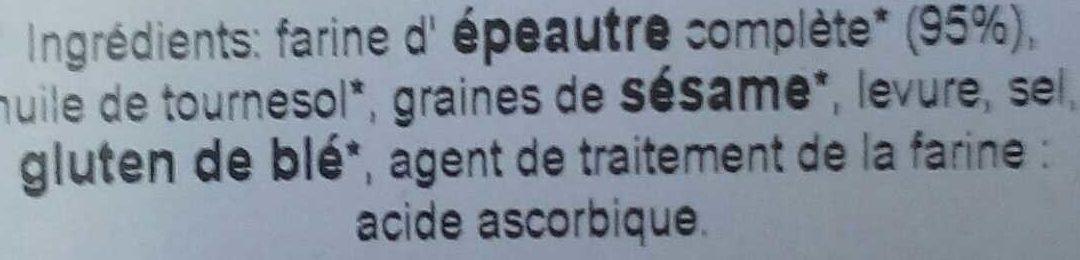 Speltines - Ingrédients - fr