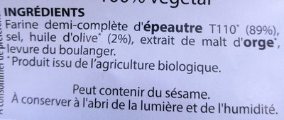 BRETZEL EPEAUTRE - Ingrediënten - fr