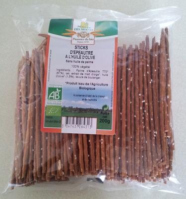 Sticks d'épeautre à l'huile d'olive - Produit - fr
