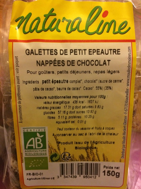 Galettes de petit épeautre napées de chocolat - Product - fr