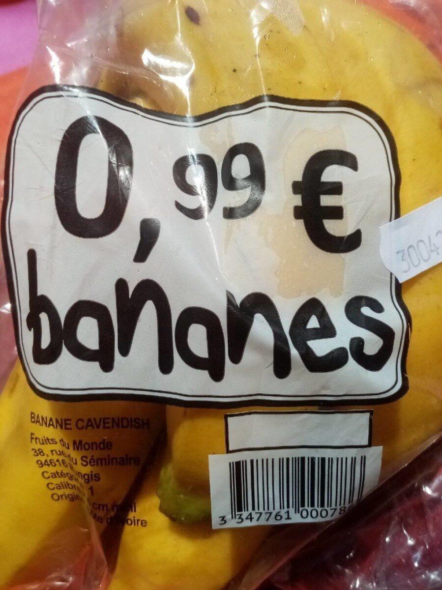 Banane cavendish - Informations nutritionnelles - fr
