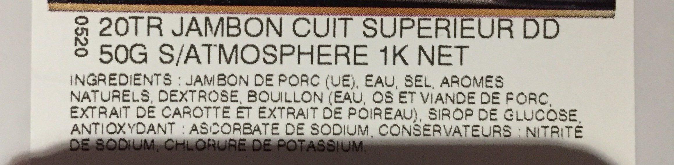 Jambon cuit superieur - Ingrediënten - fr