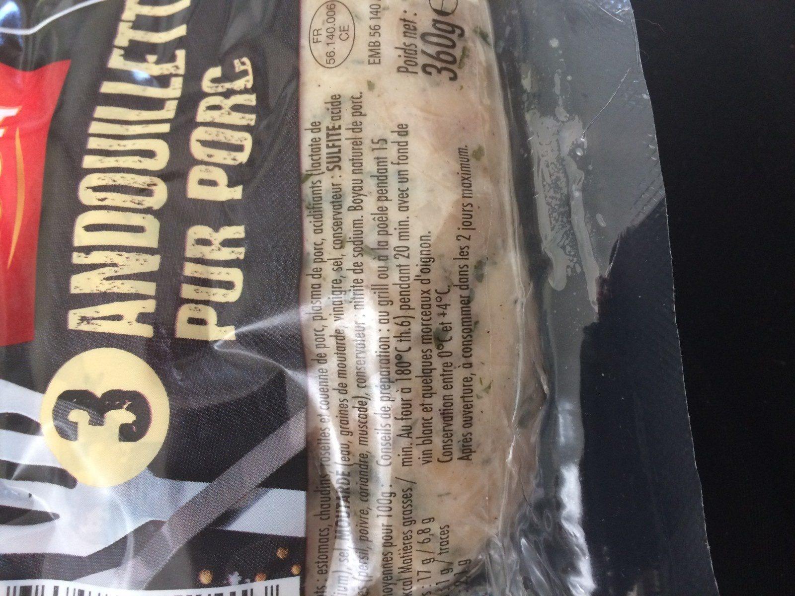 Andouillette pur porc - Ingrediënten - fr