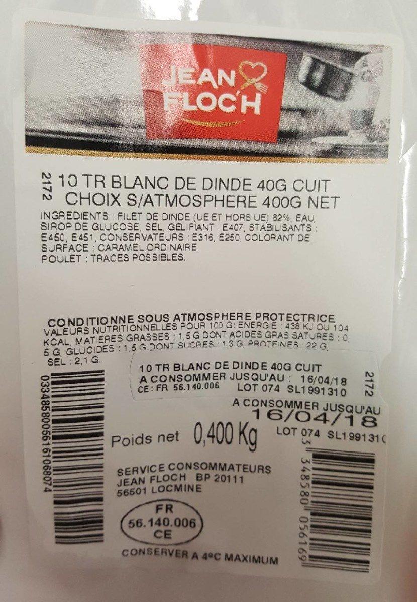 Jambon Blanc de dinde - Product - fr