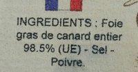 Foie gras de canard entier - Ingrédients - fr