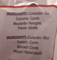 Poudre à Colombo des Antilles - Ingredients - fr