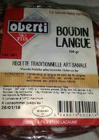 Oberti, Boudin a la langue, l'unite de 300 gr - Ingrediënten - fr