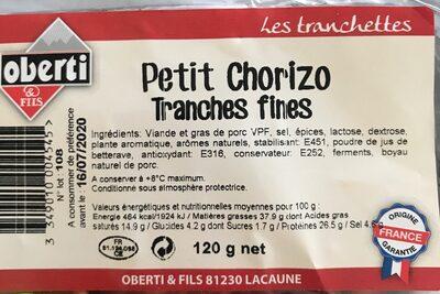 Chorizo - Product - fr