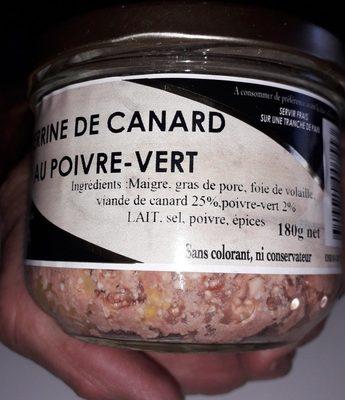 Terrine canard poivre vert - Ingrédients - fr
