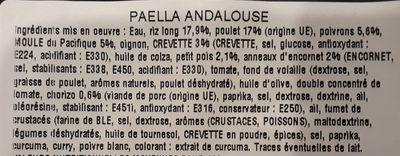 Paëlla Andalouse - Ingrédients