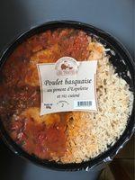 Lou Gascoun Le Poulet basquaise piment d'Espelette et riz cuisin... la barquette de 800 g - Product - fr