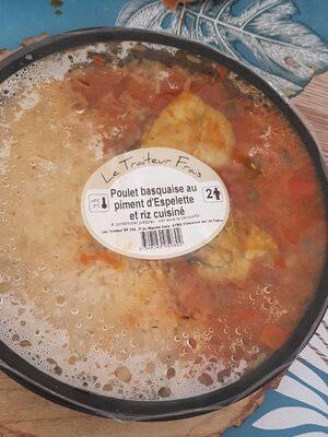 Poulet basquaiqe au piment d'Espelette et riz cuisiné - Product - fr