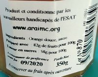 Confiture Orange douce - Ingrediënten - fr