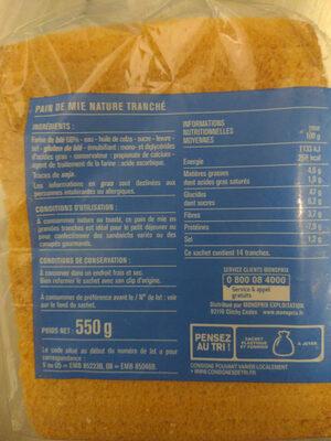 Le blanc - Pain de mie - Recyclinginstructies en / of verpakkingsinformatie - fr