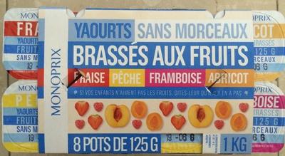 Yaout sans morceaux brassés aux fruits - Product