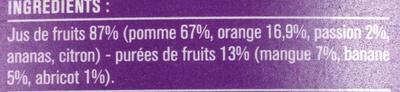 100% Pur Jus Fruit Pressé Multi Fruits - Ingrediënten