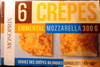 crêpes  surgelées emmental mozzarella - Product