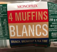 4 muffins blancs - Produit - fr