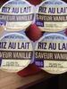 Riz au lait saveur vanille - Produit
