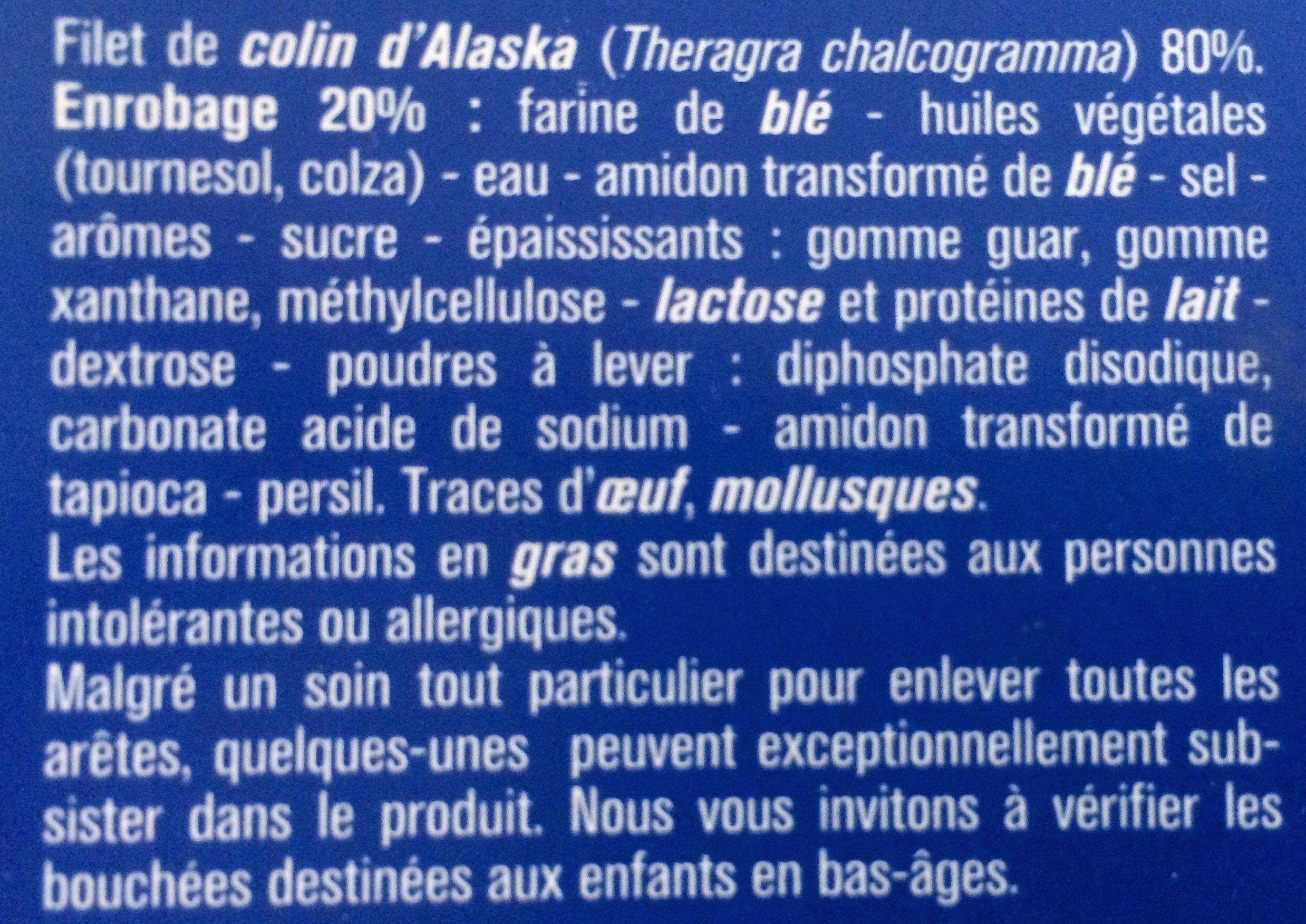 Filets meunière préfrits de colin d'Alaska - Ingredients