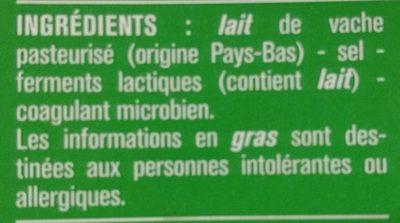 Gouda - Ingrediënten - fr