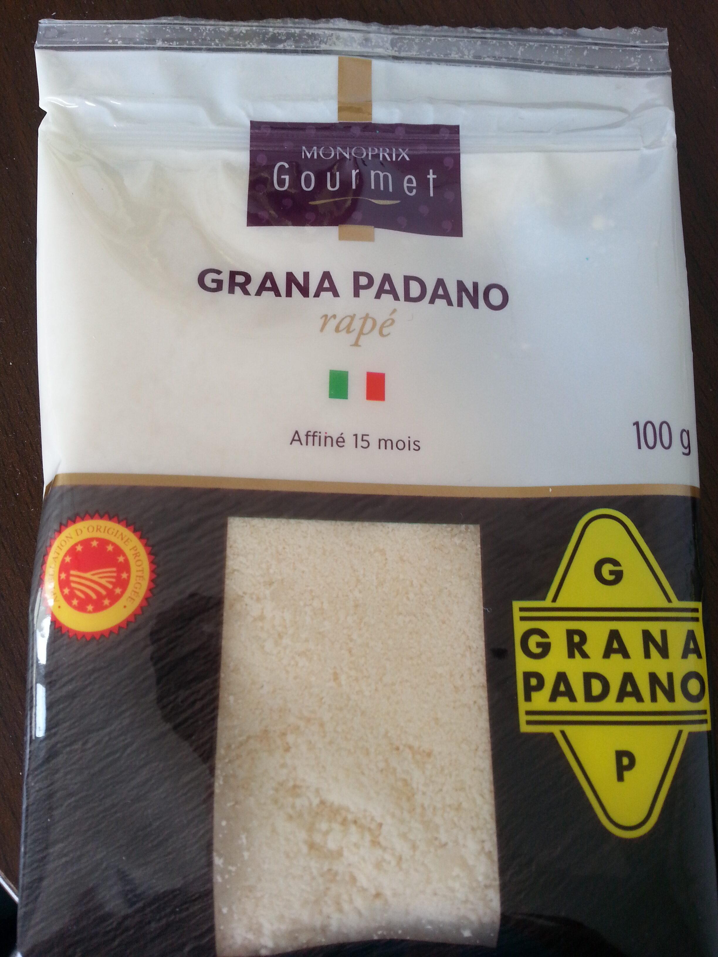Grana Padano AOP râpé (28% MG) - Produkt - fr