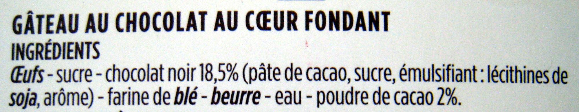 Coeur fondant au chocolat noir - Ingredients - fr