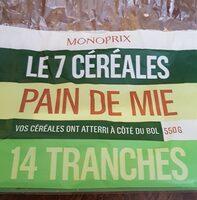 Les 7 céréales pain de mie - Product - fr