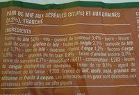 Le 7 Céréales Pain de Mie - Ingrédients - fr