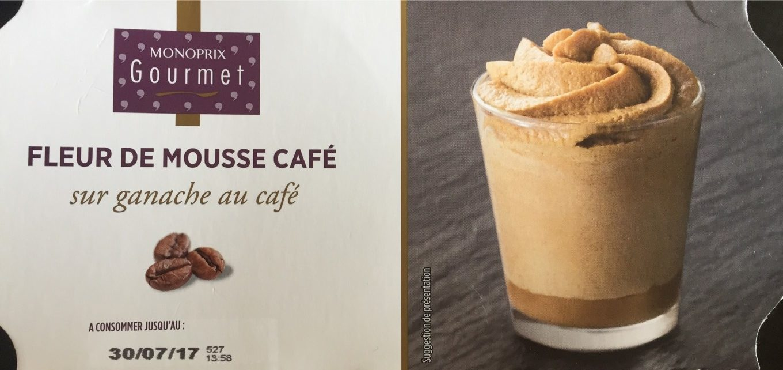 Fleur de mousse au café sur ganache au café - Ingrédients
