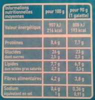 Galettes de Céréales aux 2 Fromages Bio - Nutrition facts - fr