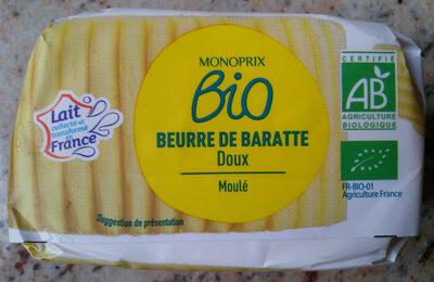 Beurre de baratte doux Bio Monoprix - Product