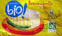 Beurre de baratte doux Bio Monoprix - Product - fr