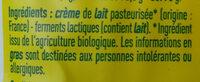 Beurre de baratte doux Bio Monoprix - Ingredients