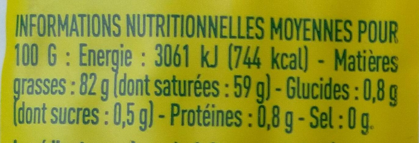 Beurre de baratte doux Bio Monoprix - Nutrition facts