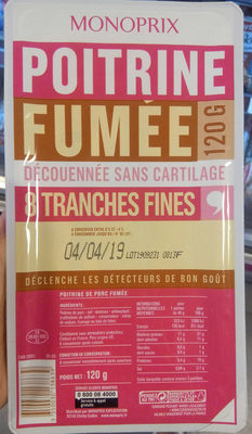 poitrine fumée - Product - fr