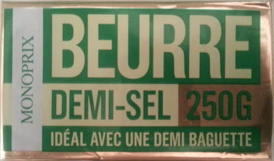 Beurre demi-sel (80 % MG) - Product