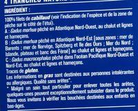 Filets de cabillaud - Ingrédients - fr