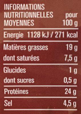 Jambon de la Forêt noire 10 tranches - Voedingswaarden - fr