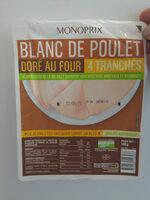Blanc de Poulet, Doré au Four (4 tranches) - Prodotto - fr