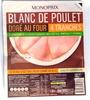 Blanc de Poulet, Doré au Four (4 tranches) - Product