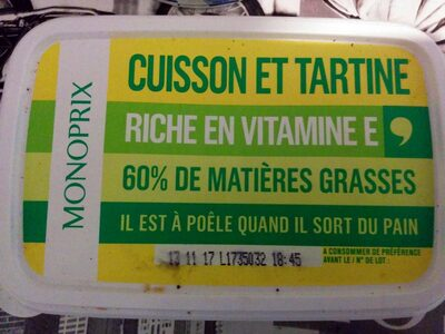Cuisson et Tartine 60% MG - Product - fr