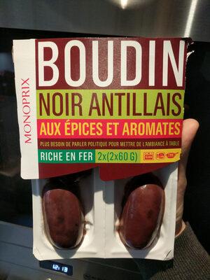 Boudins noirs antillais - Produit