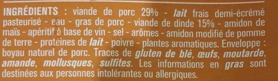 Boudins blancs - Ingrédients - fr
