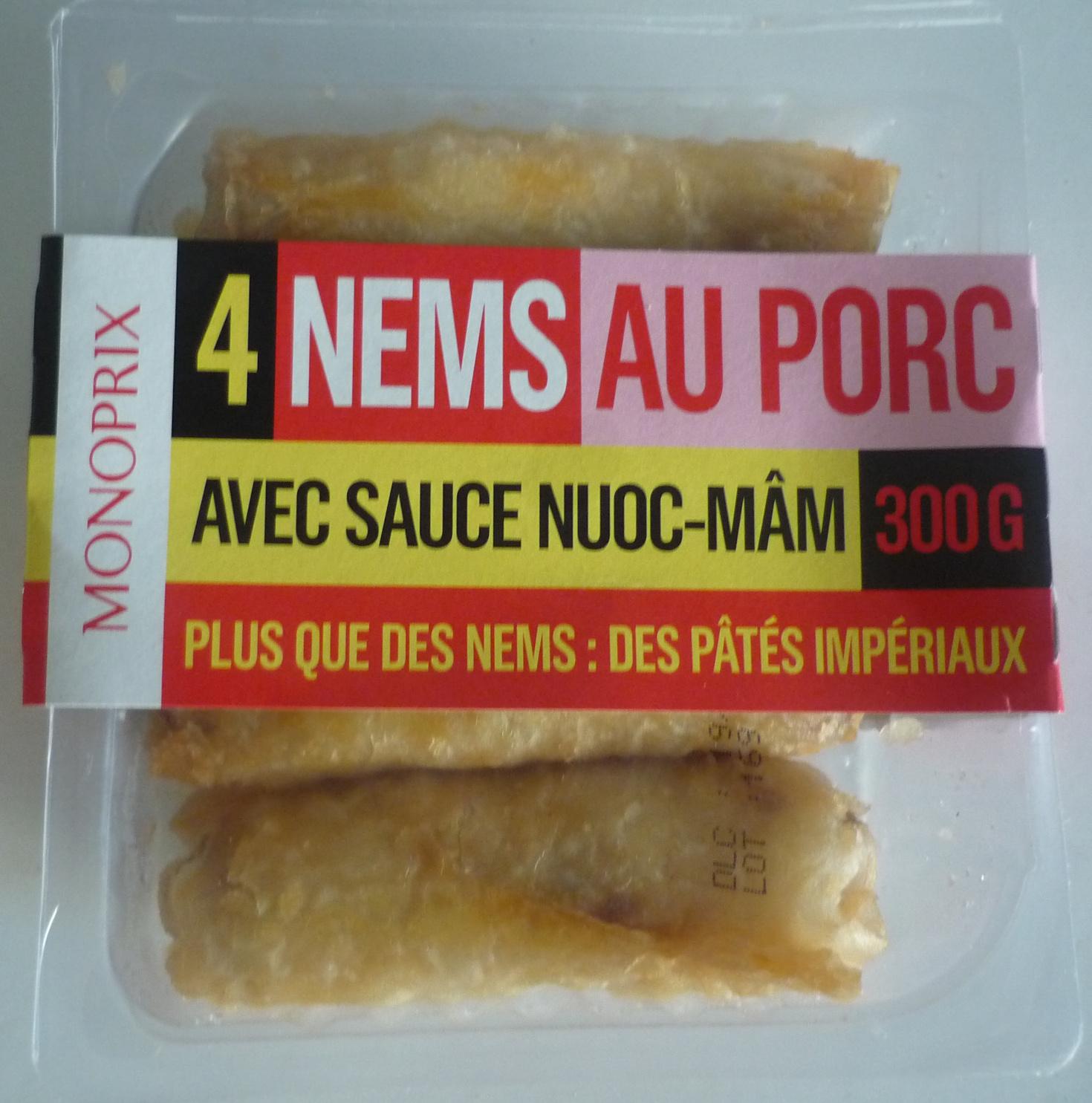 4 Nems au Porc avec Sauce Nuoc-Mâm - Produit - fr