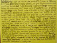 Le poulet rôti crudités et bacon pain de mie au blé malté - Ingrédients - fr