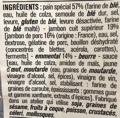 Le pavé jambon emmental - Ingredients - fr