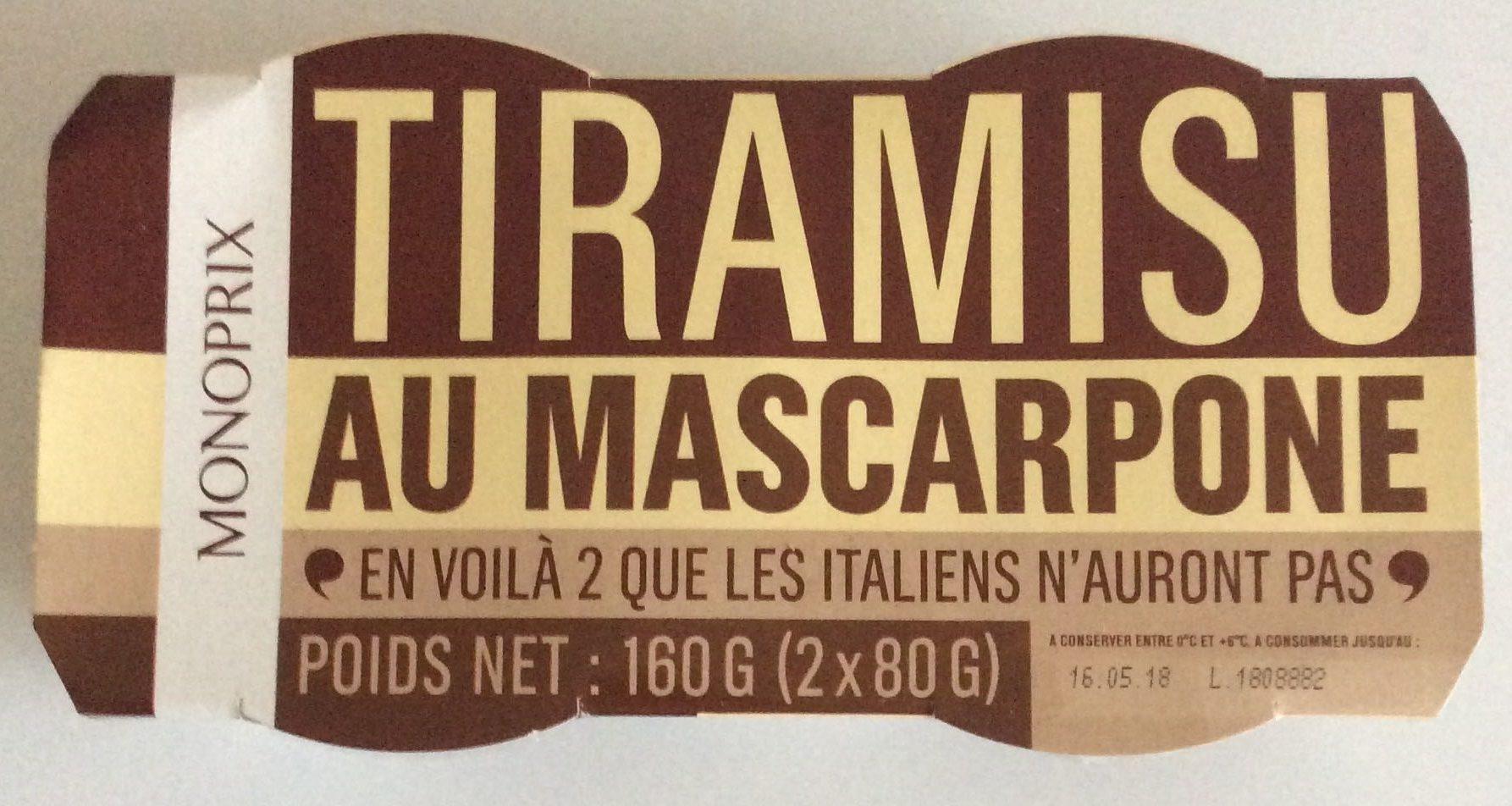 Tiramisu au mascarpone - Produit