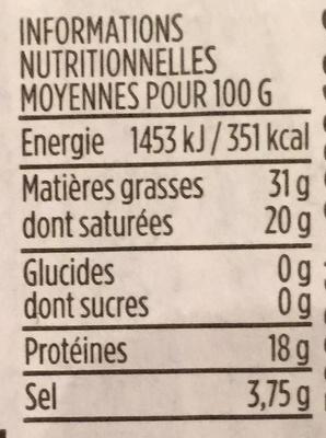 Roquefort - Informations nutritionnelles - fr